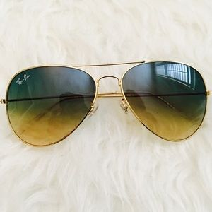 Ombré Ray Ban Style Aviators Sunglasses