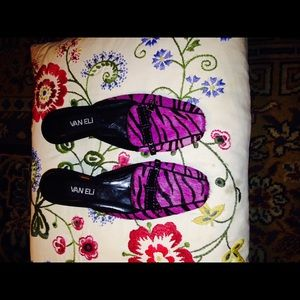 ASOS Shoes - VAN ELI PURPLE AND BLACK ZEBRA PRINT
