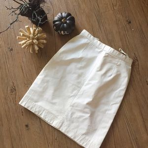 Vintage white leather skirt