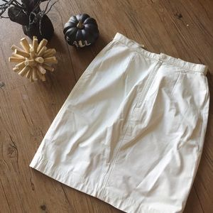Skirts - Vintage white leather skirt