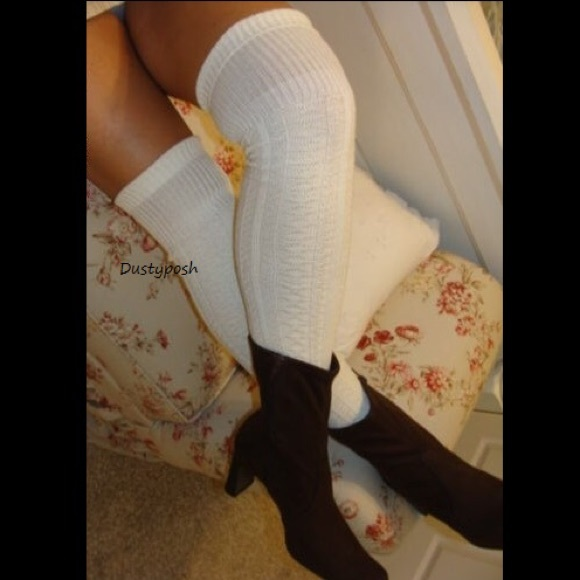 858718a7dd3 Long Cable Knit Thigh High Socks Cuff Over Knee