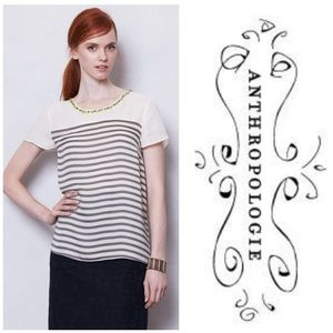Anthropologie Tops - Anthropologie Collar Shine Top