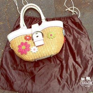 Coach straw bag!
