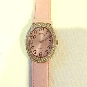 Adrienne Accessories - Adrienne Pink Sparkly Watch