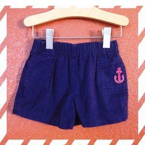 Miniwear Navy Blue Anchor Shorts 3-6 Months