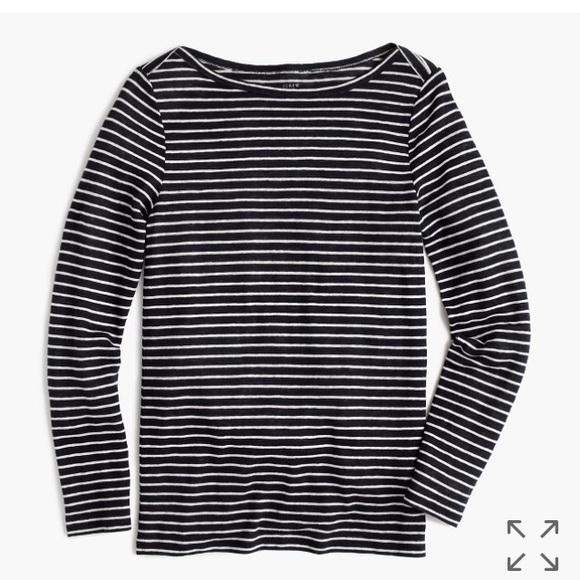 6a6033fd31 J. Crew Tops | Nwt Jcrew Linen Long Sleeve Striped T Shirt | Poshmark