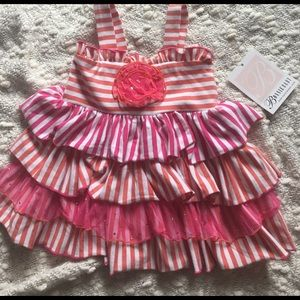 Bonnie Baby Other - NWT Bonnie Baby 2 Piece Striped Set