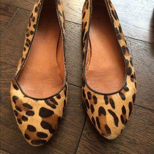 Madewell leopards calf skin flats
