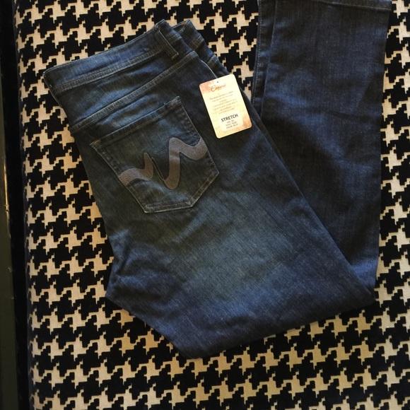 Women/'s Plus Size Dark Wash Distressed Denim Skinny Jeans 3XL NWT