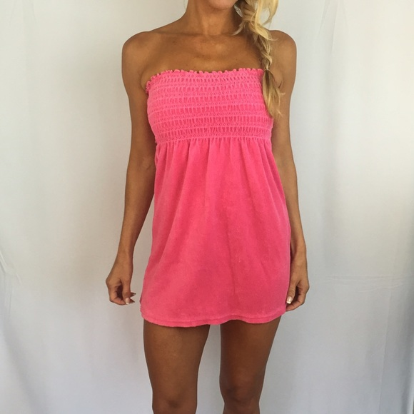 93af8926d2 Juicy Couture Other - Juicy Couture Pink Terry Tube Dress Beach Cover P