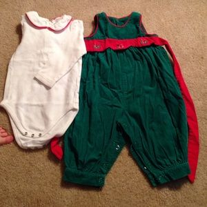 Hartstrings Other - Heartstrings Baby 2 piece Christmas Set
