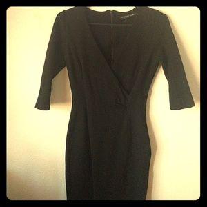 ZARA BASIC Black Dress (M)