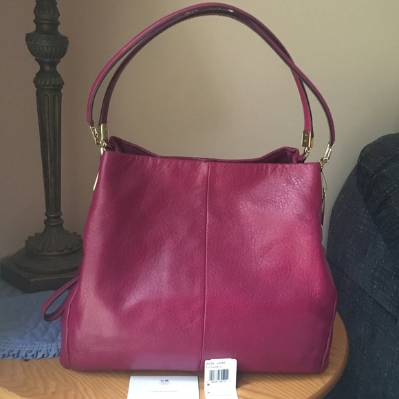 aa02b78b4124 ... reduced womens coach madison sold coach madison small phoebe shoulder  bag . 73fe0 d9c32 netherlands coach madison leather ...