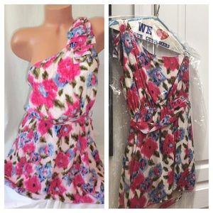 One shoulder floral dress