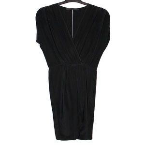 Akiko Dresses & Skirts - Akiko Black Sleeveless Silk Wrap Dress