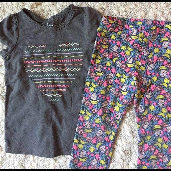 719850c86b041 Circo Shirts & Tops   Fruit Leggings With Matching Heart Tee   Poshmark
