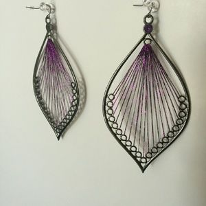 Hot Topic Jewelry - Large Purple Statement Earrings