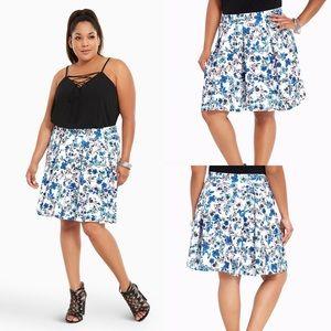 Floral Scuba Skater Skirt