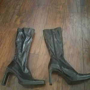 Barely worn black almost knee height