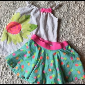 Jumping Beans Other - Size 24 M skirt with built in bloomers + tank!