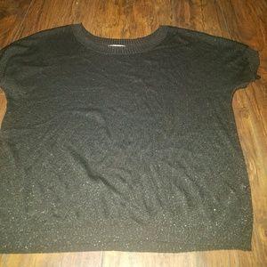 Sheer short black sweater