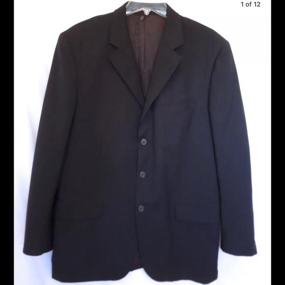 84af10ea1d Cacharel Suits & Blazers | Brown Wool Mens Suit Blazer Sz 52us42 ...
