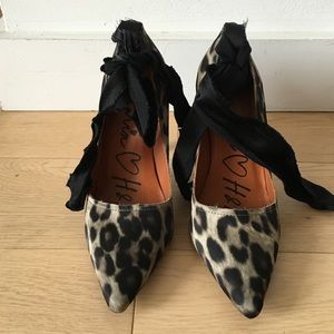 Lanvin for H&M Leopard heels Limited Edition