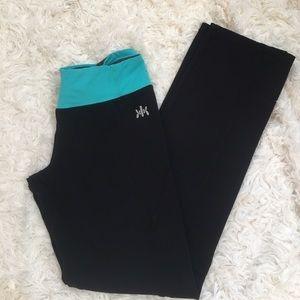 Kyodan Pants - Kyodan Size Medium Black & Teal leggings Medium