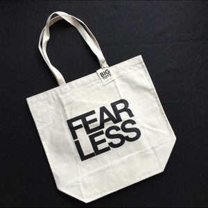 Dogeared Fear Less Canvas Big Tote