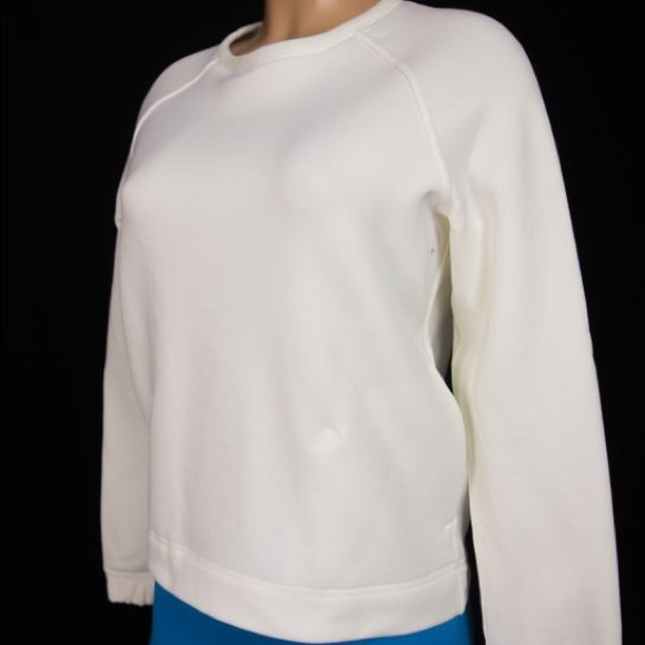 69% off lululemon athletica Tops - LULULEMON Cream Fleece Pullover ...