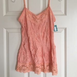 NWT Maurices lace tank top
