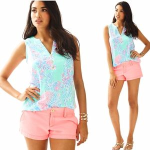 Lilly Pulitzer Tops - XL NWT Lilly Pulitzer Essie Top Minty Fresh Fansea