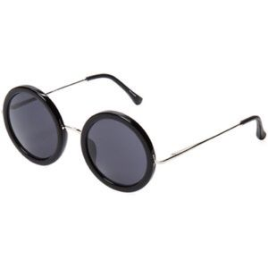 The Row Accessories - The Row Black Acetate Round Sunglasses