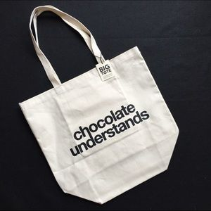 Dogeared Chocolate Understands Canvas Big Tote