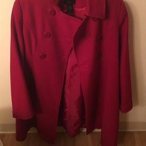 Via Appia Due Jackets & Blazers - Beautiful red trench