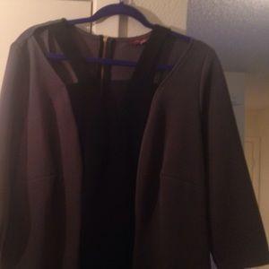 Monif C. Dresses & Skirts - Black and grey Monif C plus size 1x dress