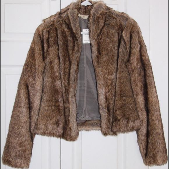 hollister fur coat