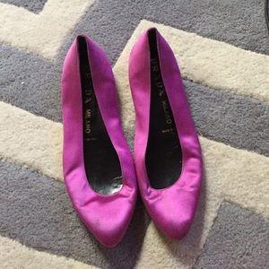Pink satin Prada flats