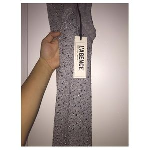 Silver dress from L'AGENCE