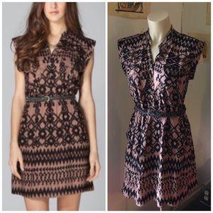 Angie Dresses & Skirts - Brown Tan & Black Tribal Aztec Print Belt Dress