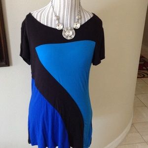 Cable & gauge short sleeve dress or casual top