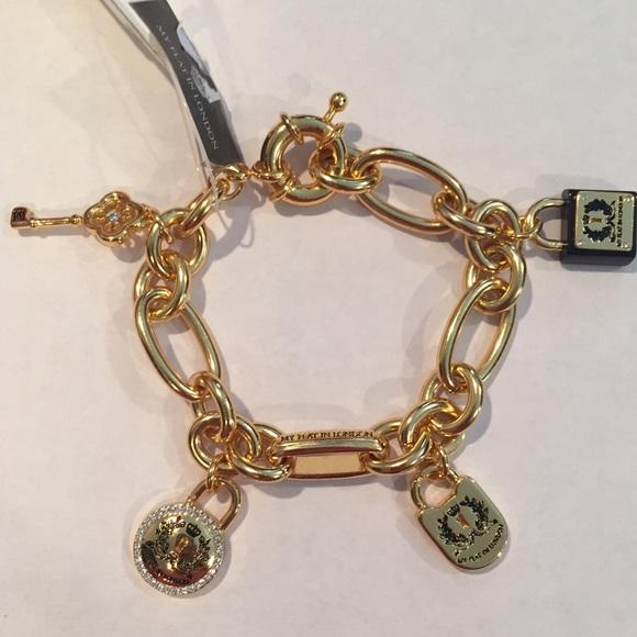 493662536ea88 🆕 My Flat In London Love Locks gold bracelet NWT