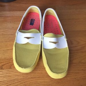 Swims Other - Men's SWIMS Yellow/White Loafers