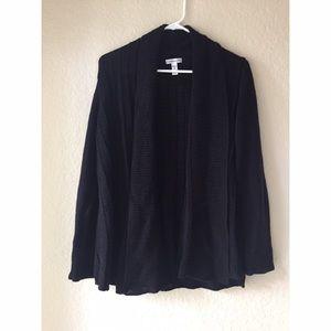 croft & barrow Sweaters - Croft & Barrow Black Knit Cardigan