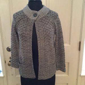 Jones New York grey cardigan size small