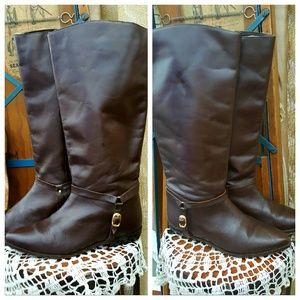 Westbound leather equestrian riding boots used