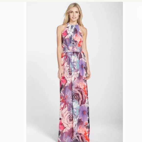 aesthetic appearance half price official photos Eliza J Floral Print Chiffon Maxi Dress NWT