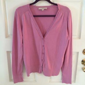 Loft Pink Cardigan Size L