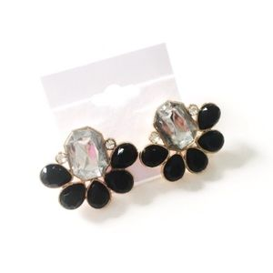 Jewelry - 🎉HP🎉 NWT black & crystal statement earrings