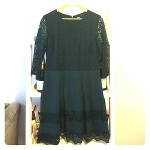 Oasis hunter green lace cocktail dress